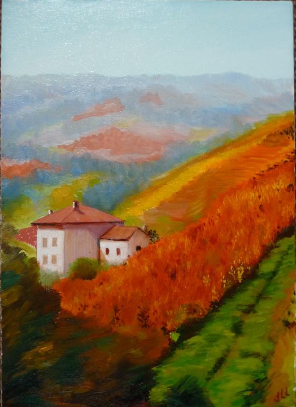 Vignes d'automne - Huile 46 x 33