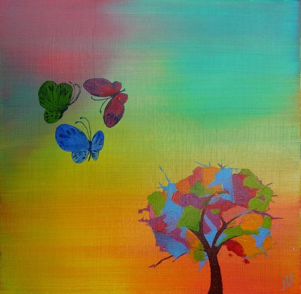 Les papillons --40x 40 (2015)