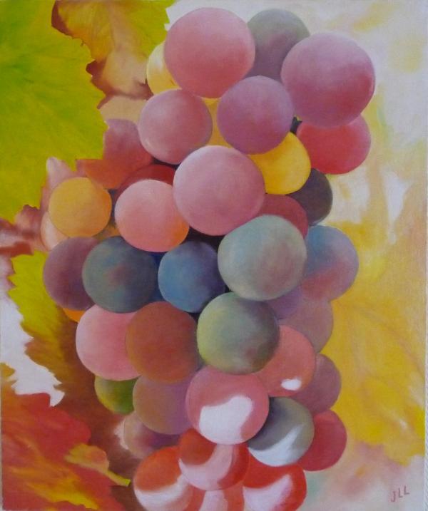 Grappe de raisin - Huile 65 x 54