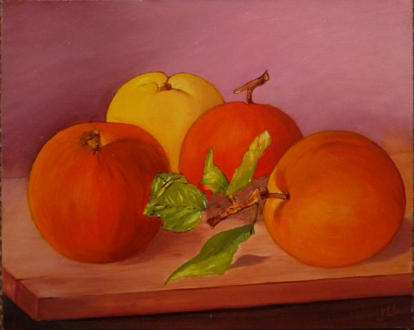 Les pommes - Huile 41 x 33