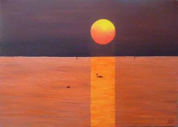 Coucher de soleil - Huile 46 x 33
