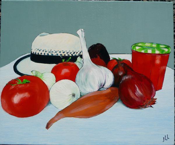Sur la table en couleur - 46 x 38 (2014)