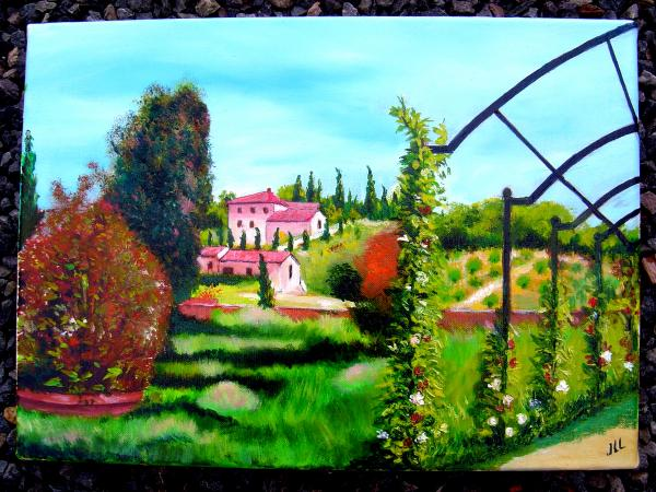 Toscane 2 - huile 46 x 33