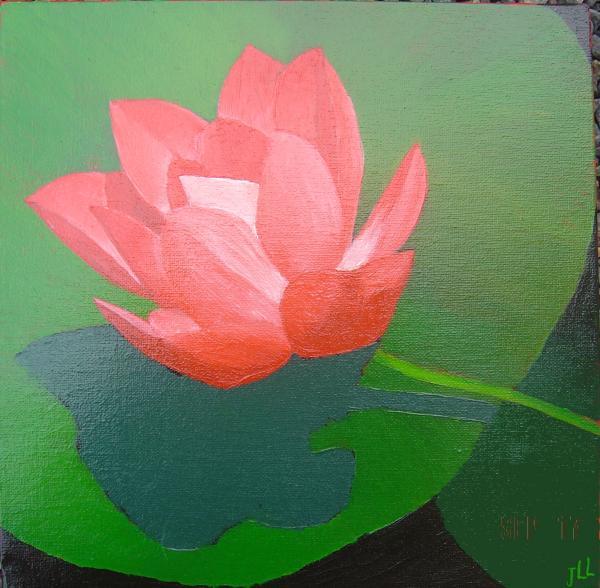 Série fleur1 - Huile 40x 40