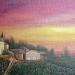 Coucher de soleil sur Clochemerle  - huile 46 x 33