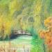 Chez Monet  ( Vue du jardin) Huile 46 x 38