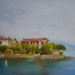 Les Iles Borromées (Lac Majeur ) - huile  46 x 33